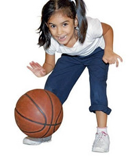 Basketballkidsdribble