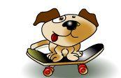 0514dog_skateboar_illust