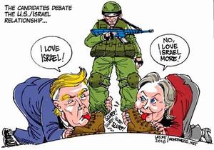Trumphillaryisraelsbootsthumb